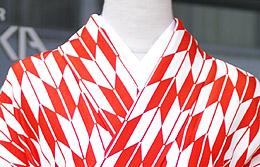 「媛さんぽ」矢絣の着物
