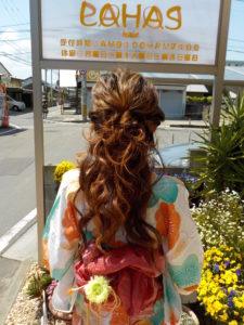 愛媛県松山市 浴衣レンタル着付け 着付け ヘアメイク 美容室 媛さんぽ