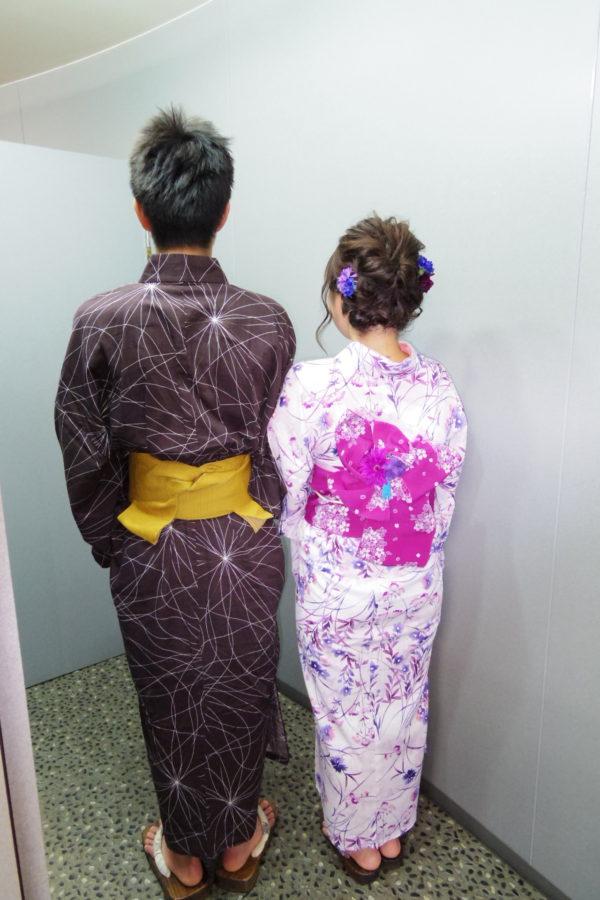 浴衣 レンタル着付の例(1)